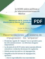 Estudio de la OCDE sobre políticas y regulación de telecomunicaciones en México (Presentación)