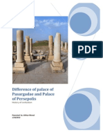 Difference of Palace of Pasargadae and Palace of Persepolis