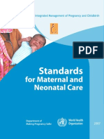Standards for Maternal and Neonatal Care_WHO