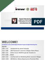 DM Plan_Feb 15 to Feb 29 2012 Course Orientation