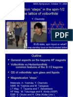"H. Yoshida and Y. Okamoto- Magnetization ""steps"" in the spin-1/2 kagome lattice of volborthite"
