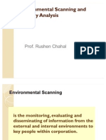 Enviromental Scanning and Industry Analysis