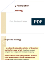 Strategy Formulation Corporate Strategy