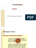 Strategy Formulation-Strategic Choice