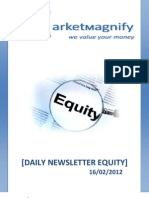 Daily Equity Report by Market Magnify 16-02-2012