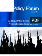 GPH and MILF Continuing Peace Negotiation and Charter Change