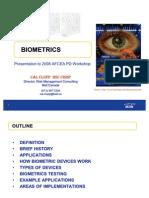 Bio Metrics Lecture 2008 PD Workshop