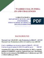 Usage of Washed Coal-GCV vs UHV