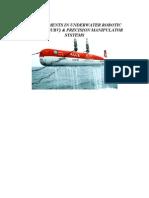 Development in Underwater Robotic Vehicles-URV