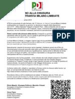COMUNICATO STAMPA - 15 Febbraio 2012 - No Alla Chiusura Della Tranvia Milano Limbiate