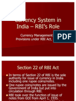 Currency System in India RBI Role