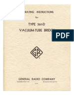 Operating Instructions for Type 561D Vacuum Tube Bridge