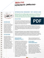 Windows HPC Server 2008_Overview_Datasheet