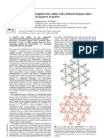 Geo Paul, Amitava Choudhury and C. N. R. Rao- An organically templated iron sulfate with a distorted Kagome lattice exhibiting unusual magnetic properties