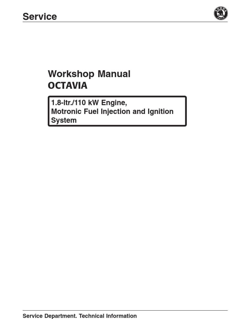 Skoda Octavia 1 8 110kW Fuel Injection