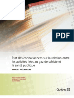 Etat des connaissances sur la relation entre les activités liées au GDS et la santé publique