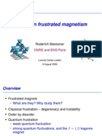 Roderich Moessner- Tutorial on frustrated magnetism