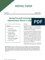 Moving Forward Assessing Public Administration Reform BP