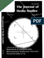 New Media & Language- Journal of Media Studies- Dr Sony Jalarajan- Media Studies