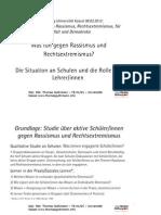 Aktiv gegen Rassismus und Rechtsextremismus an Schulen - Thomas Guthmann