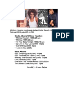 Terlahir Dengan Nama Whitney Elizabeth Houston Pada 9 Agustus 1963