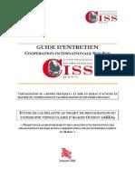 Etude Da Cas Relative Au Projet de on Du Patrimoine Vernaculaire d'Agadir Ouzrou