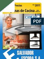 Tarifa Escoda Campanas Cocina CATA Julio2011