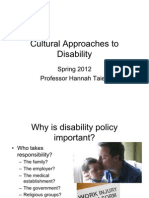 Cultural Approaches to Disability Week Four