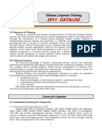 Corporate training  Catalog - 2011