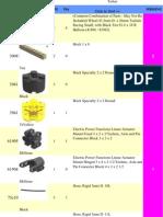 LEGO 8295 Telescopic Handler Set Parts Inventory