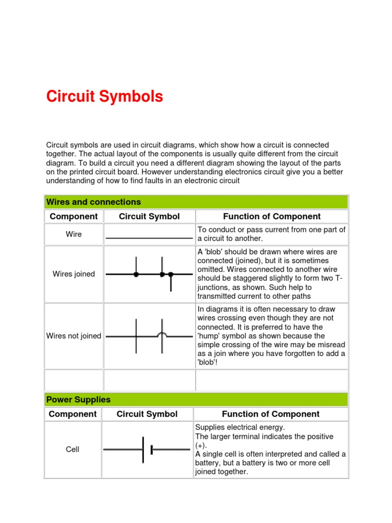 Circuit Symbol T1 | Electronic Component | Switch