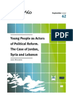Young People as Actor Sof Political Reforms- Lebanon, Syria and Jordan 2007