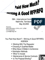 Writing a Good RFP-RFQ