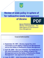 Review of state policy in sphere of for radioactive waste management of Ukraine