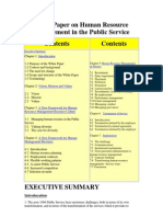White Paper on Human Resource Management in Public Service