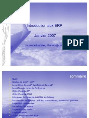 EN TÉLÉCHARGER GRATUIT ERP5 FRANCAIS