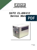 SatoCL408 Service Manual
