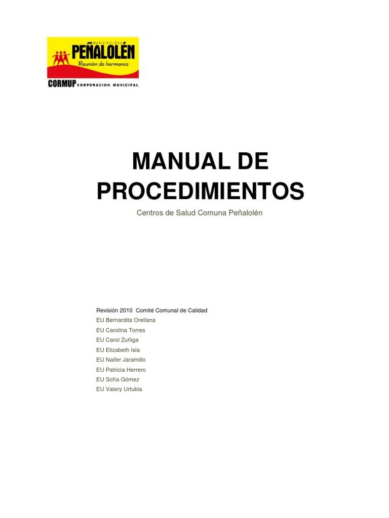 Manual de Normas Tecnicas y Procedimientos CESFAM 2011