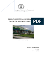 Project Report on Agriculture Business for the CSR Implementation for ITC