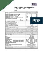 Technical Data Sheet Premiere 31 10-20KVA