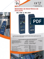 Medidor de resistência de isolamento Amperis MIC-1000