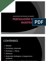 PREPARACIÓN DE MUESTRAS SEM
