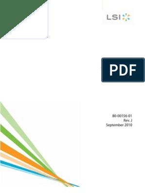 LSI MegaRAID Software User Guide | Digital & Social Media