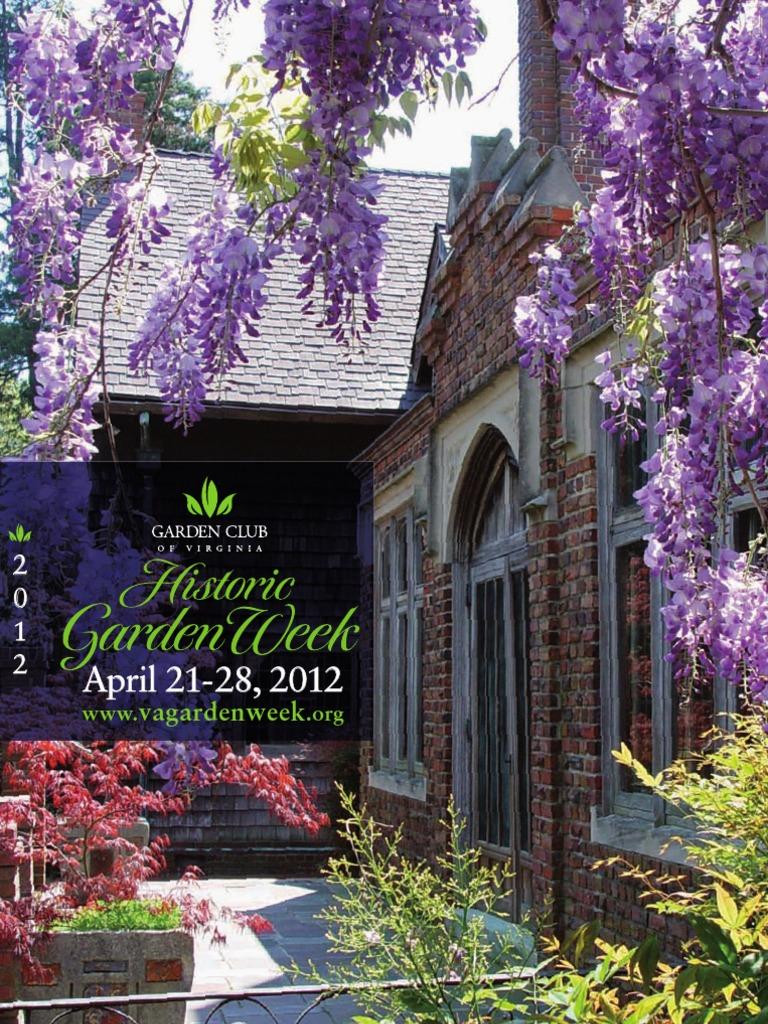 Historic Garden Week In Virginia 2012 Guidebook Gardens