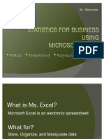 Statistics for Business Using Excel