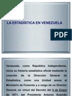 La Estadi'Stica en Venezuela