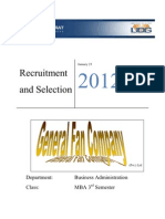 Recruitment and Selection for GFC