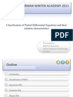 Classification of PDE