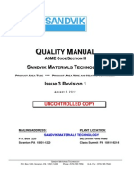 ASME Section III Quality Manual I3 R1 03JA2011