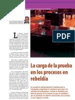 La Carga de la Prueba en los Procesos en Rebeldía 163Probatica.J.Marti